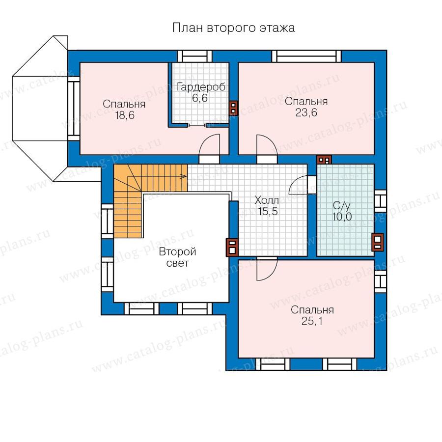 2этаж. План проекта №58-30L