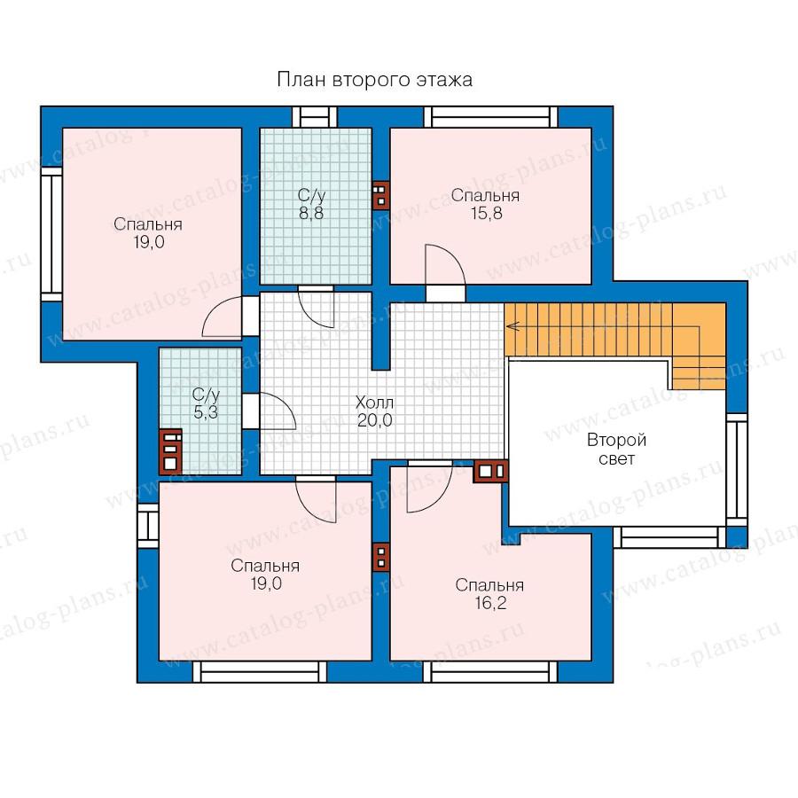 2этаж. План проекта №58-36
