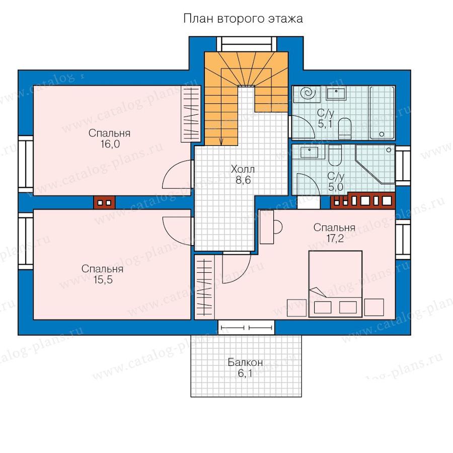 2этаж. План проекта №58-39