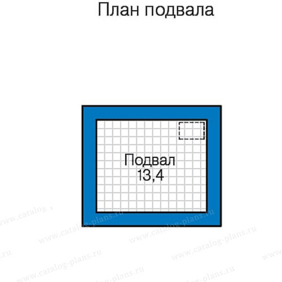 1этаж. План проекта №58-43