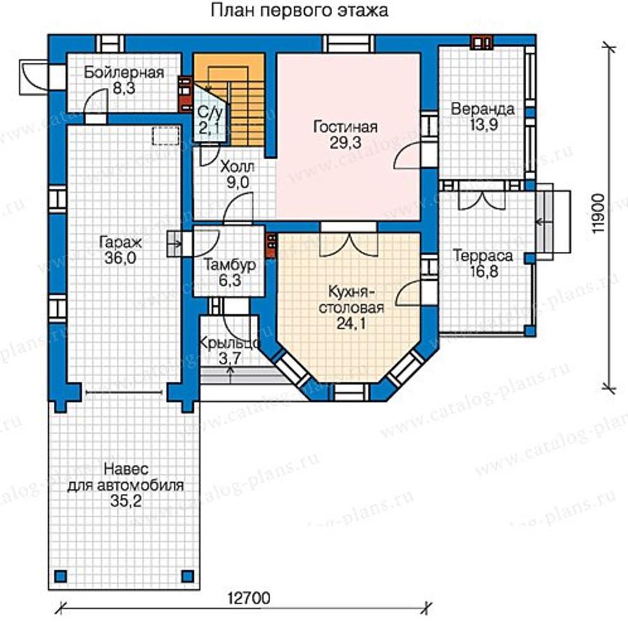 2этаж. План проекта №58-43
