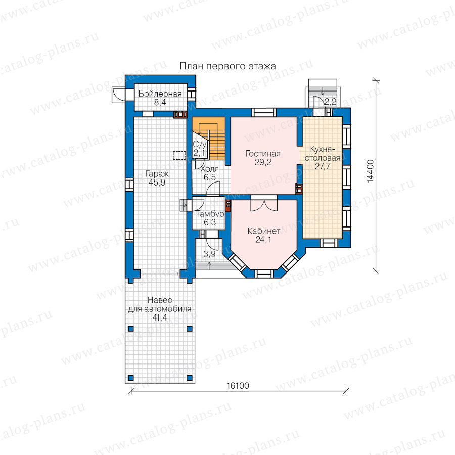 2этаж. План проекта №58-43AL