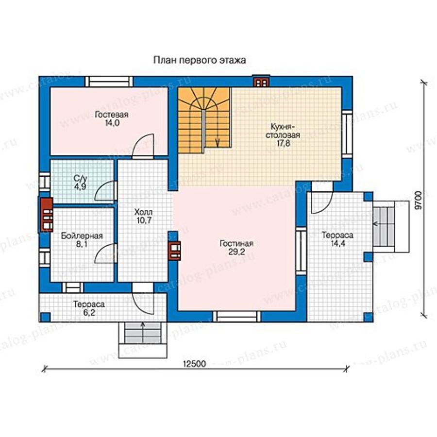 1этаж. План проекта №58-47
