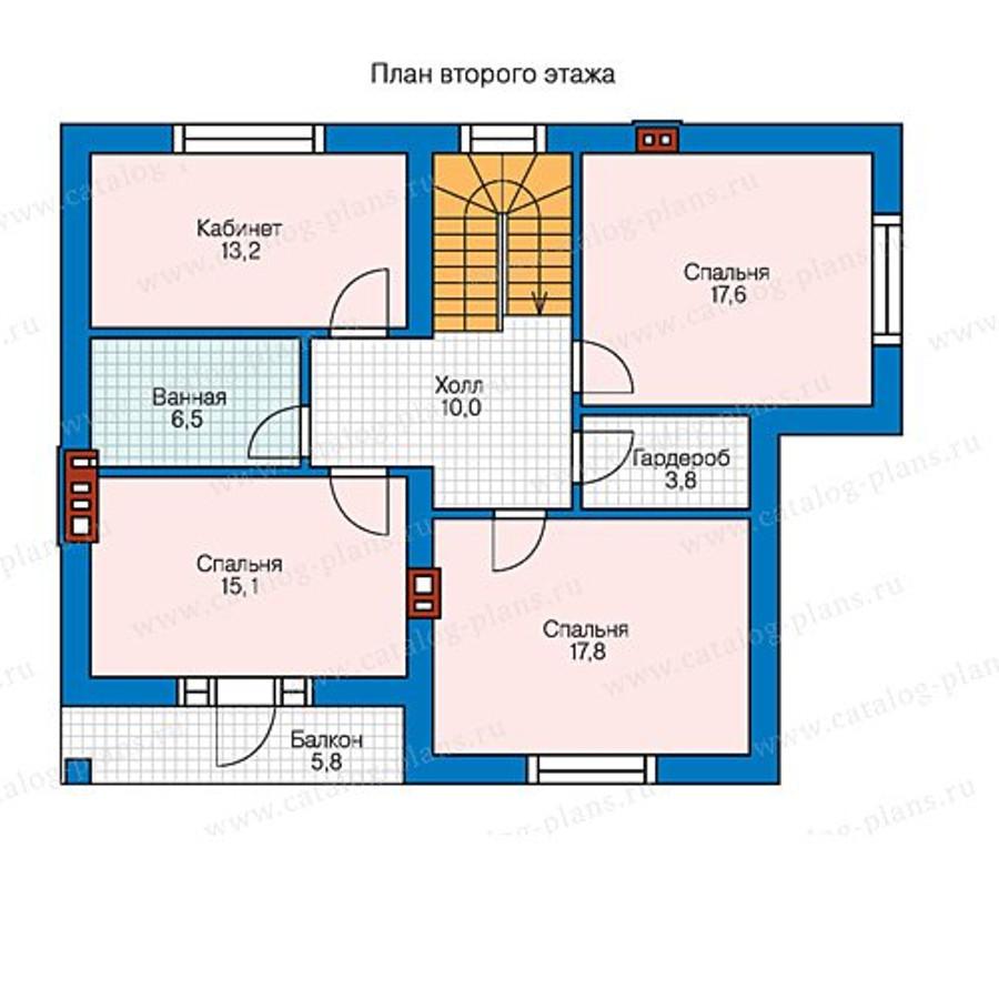 2этаж. План проекта №58-47