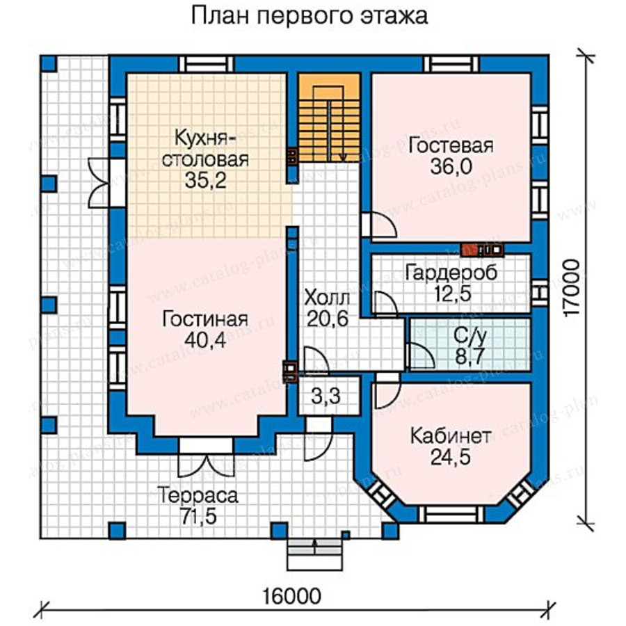 2этаж. План проекта №58-48