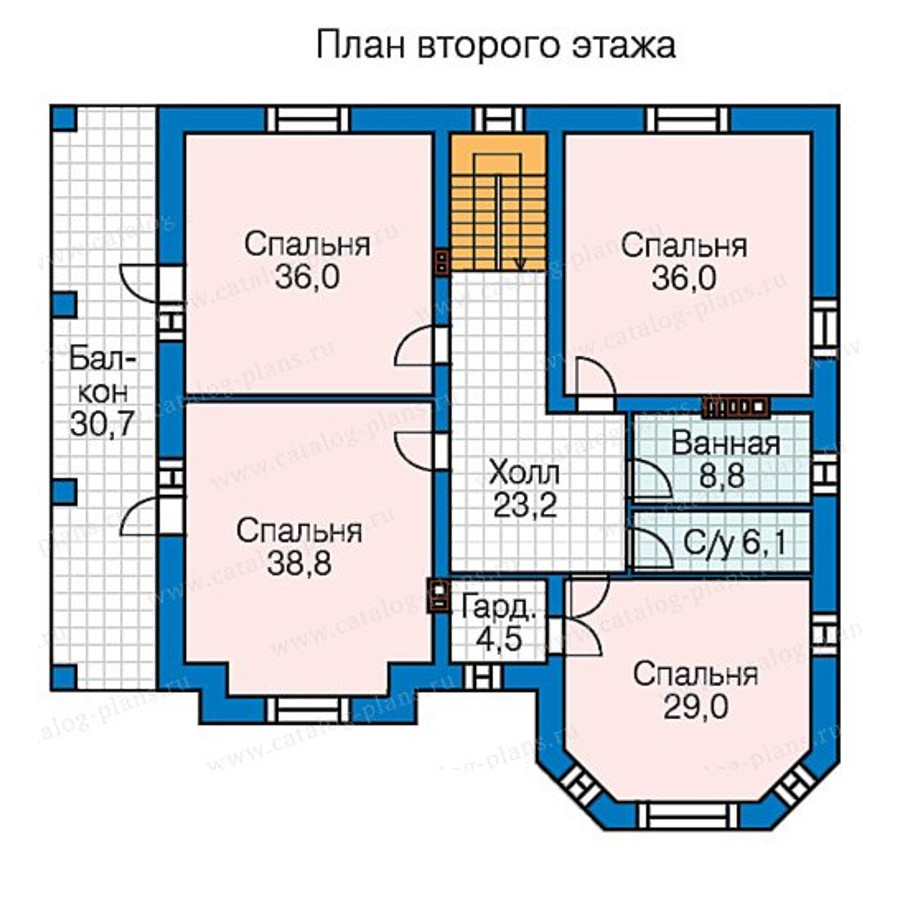 3этаж. План проекта №58-48