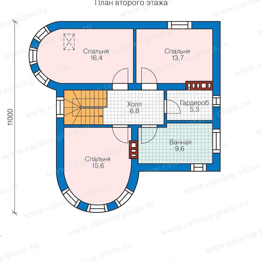 2этаж. План проекта №58-53