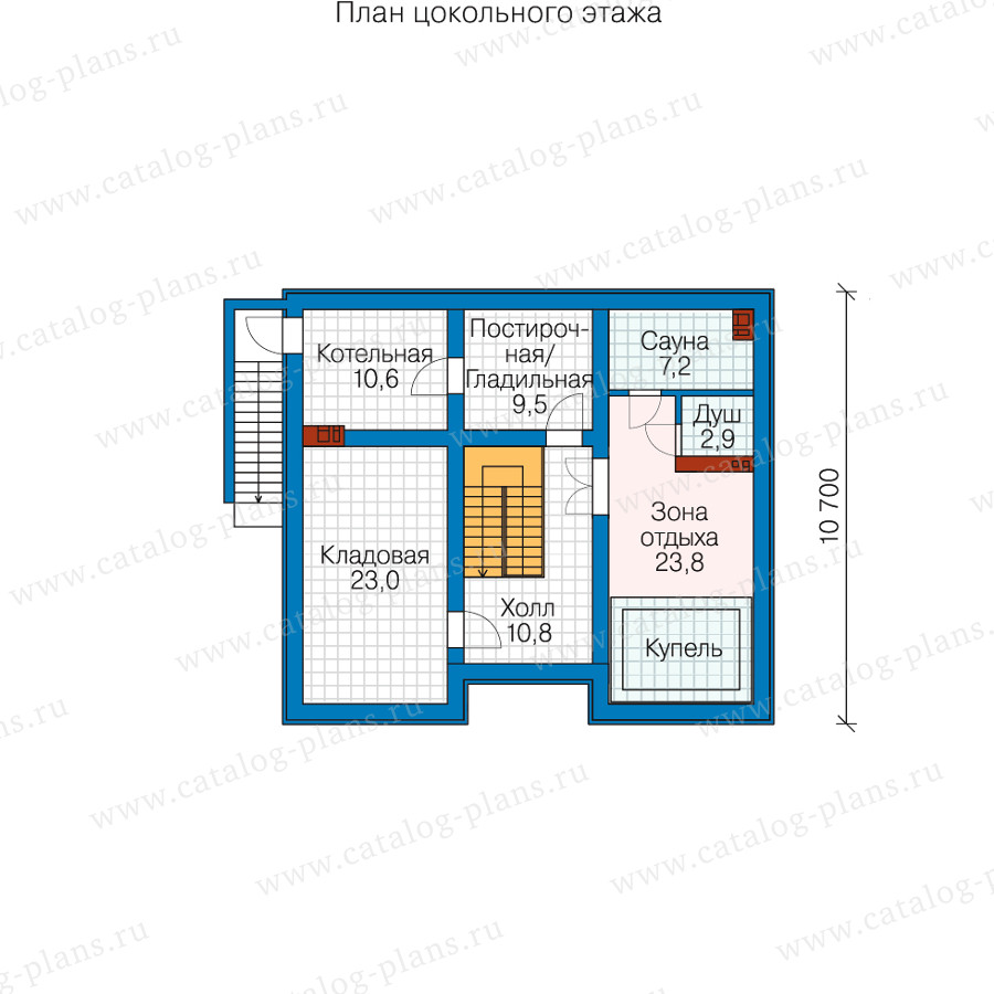 1этаж. План проекта №58-54