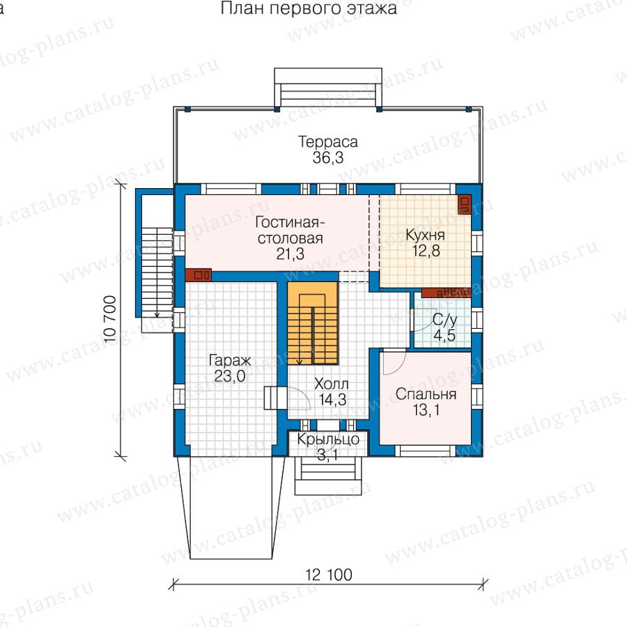 2этаж. План проекта №58-54
