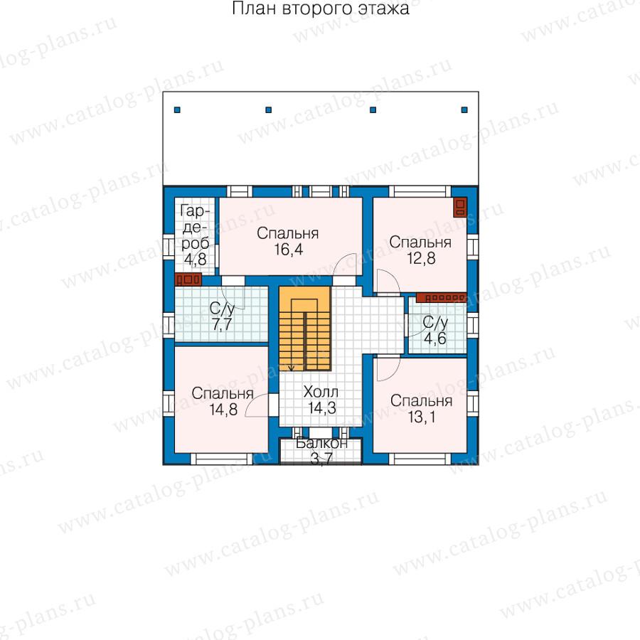 3этаж. План проекта №58-54