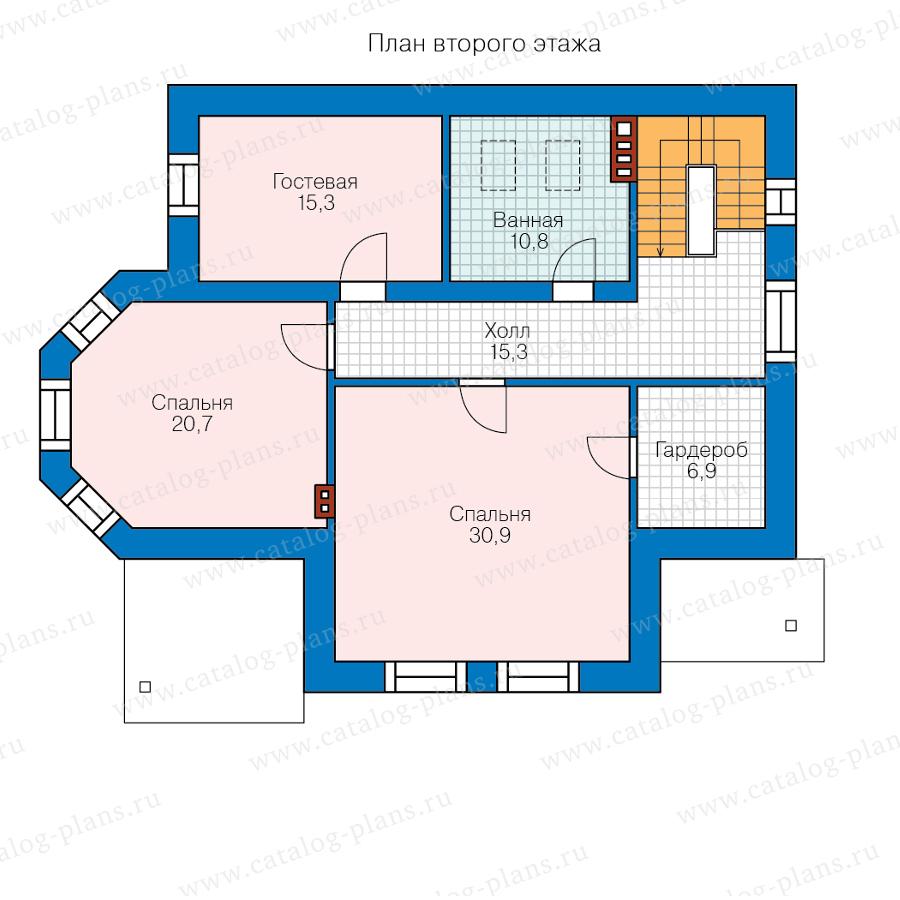 2этаж. План проекта №58-55BL