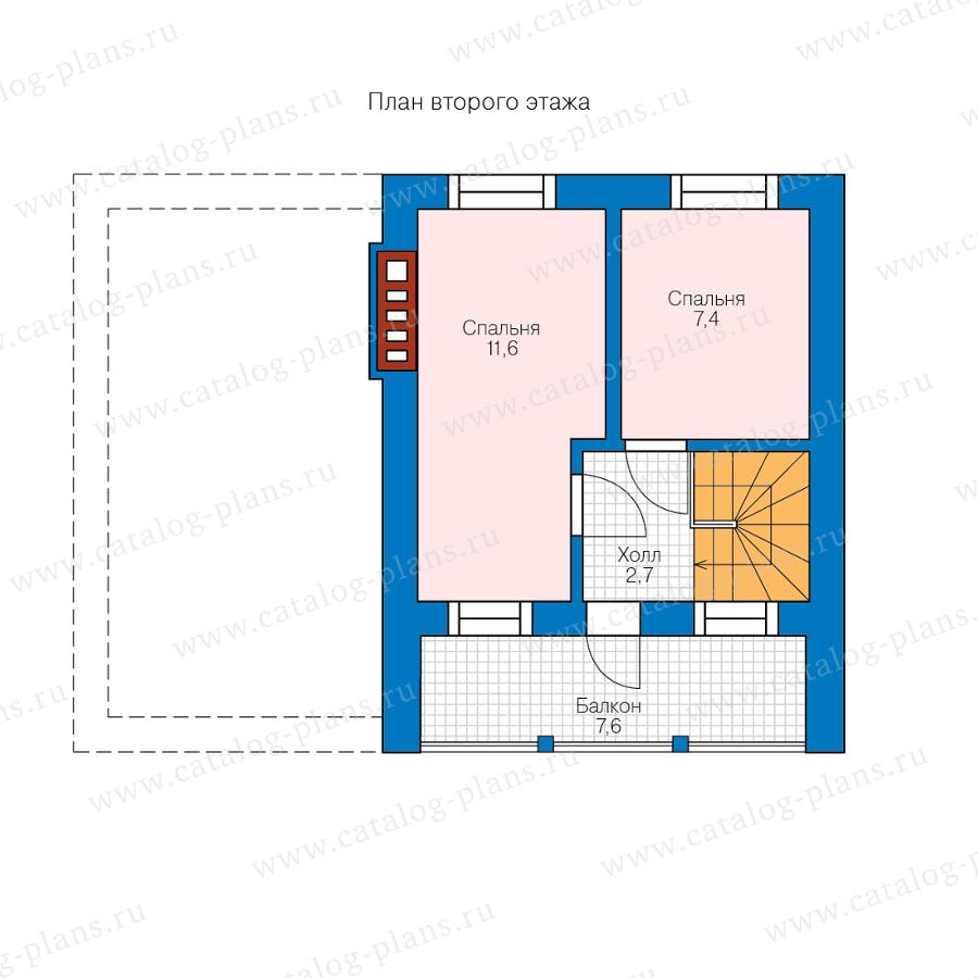 2этаж. План проекта №58-56A