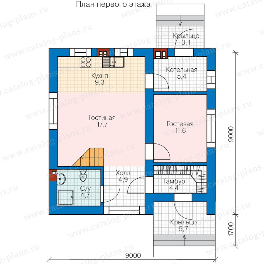 1этаж. План проекта №58-60