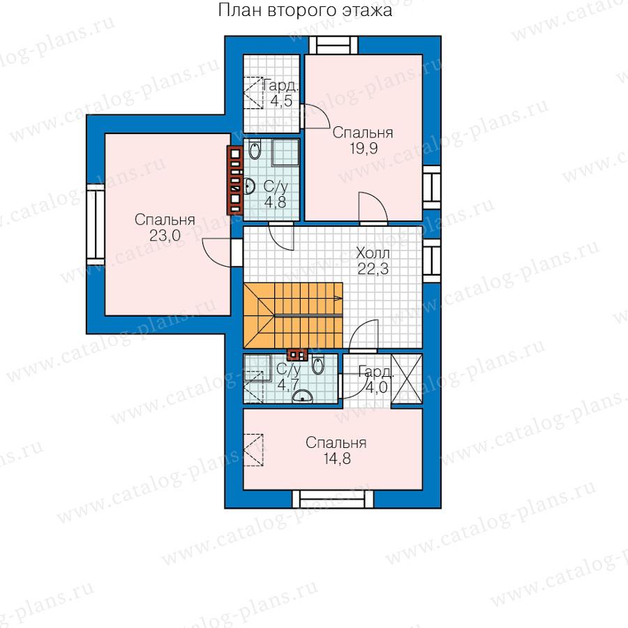 2этаж. План проекта №58-64L