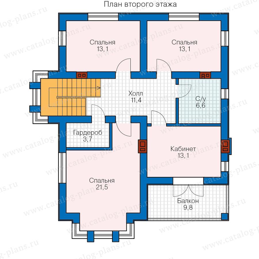 2этаж. План проекта №58-76