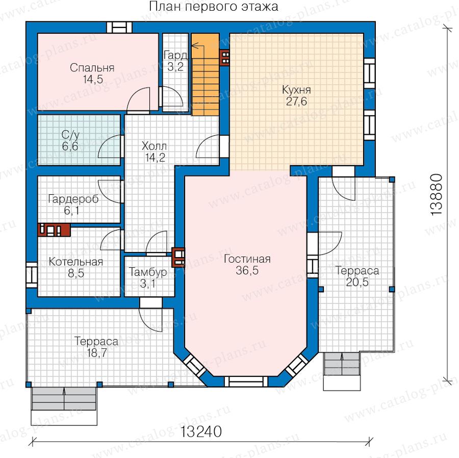 1этаж. План проекта №58-81