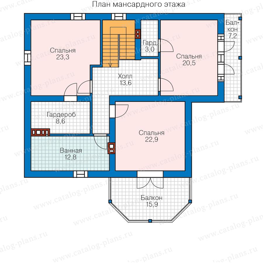 2этаж. План проекта №58-81