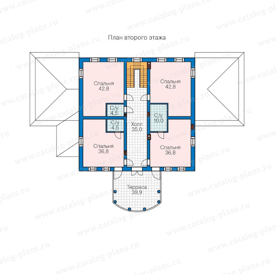2этаж. План проекта №58-85A