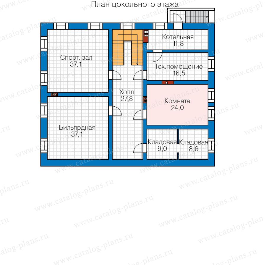 1этаж. План проекта №58-85BKL