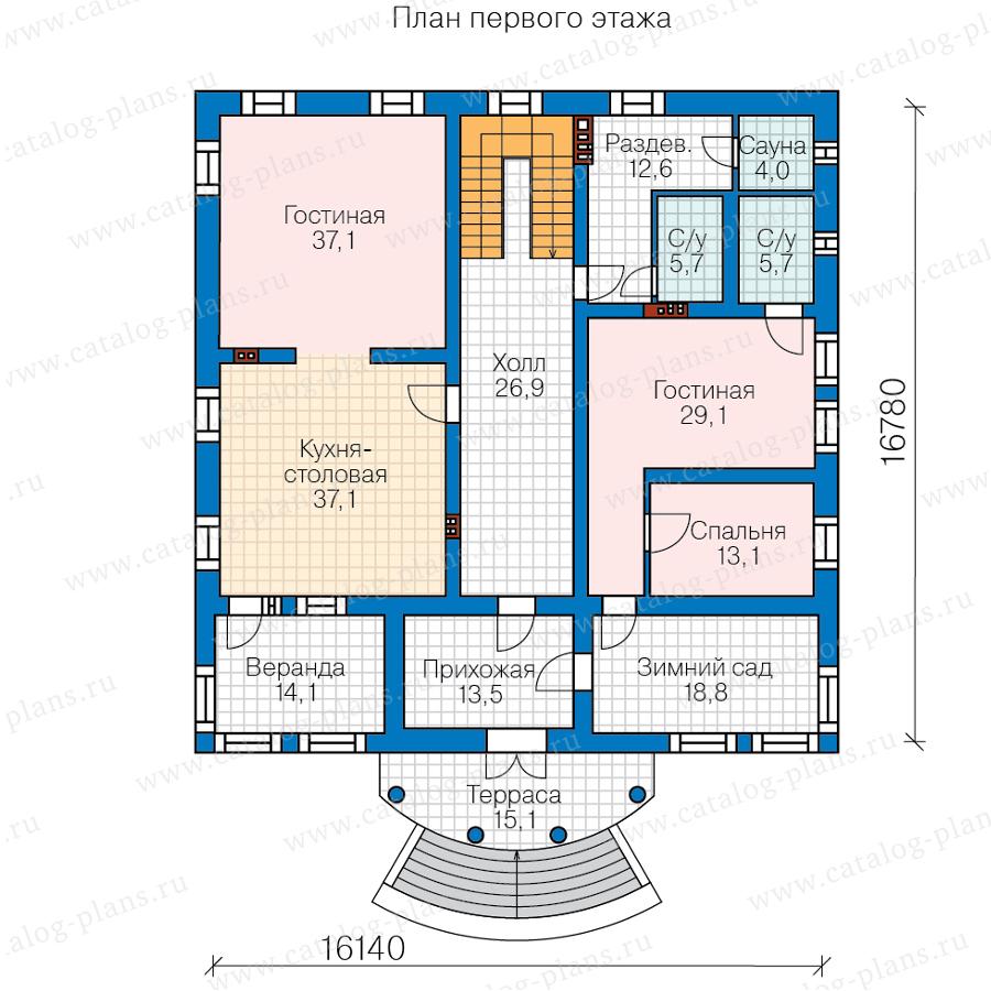 2этаж. План проекта №58-85BKL