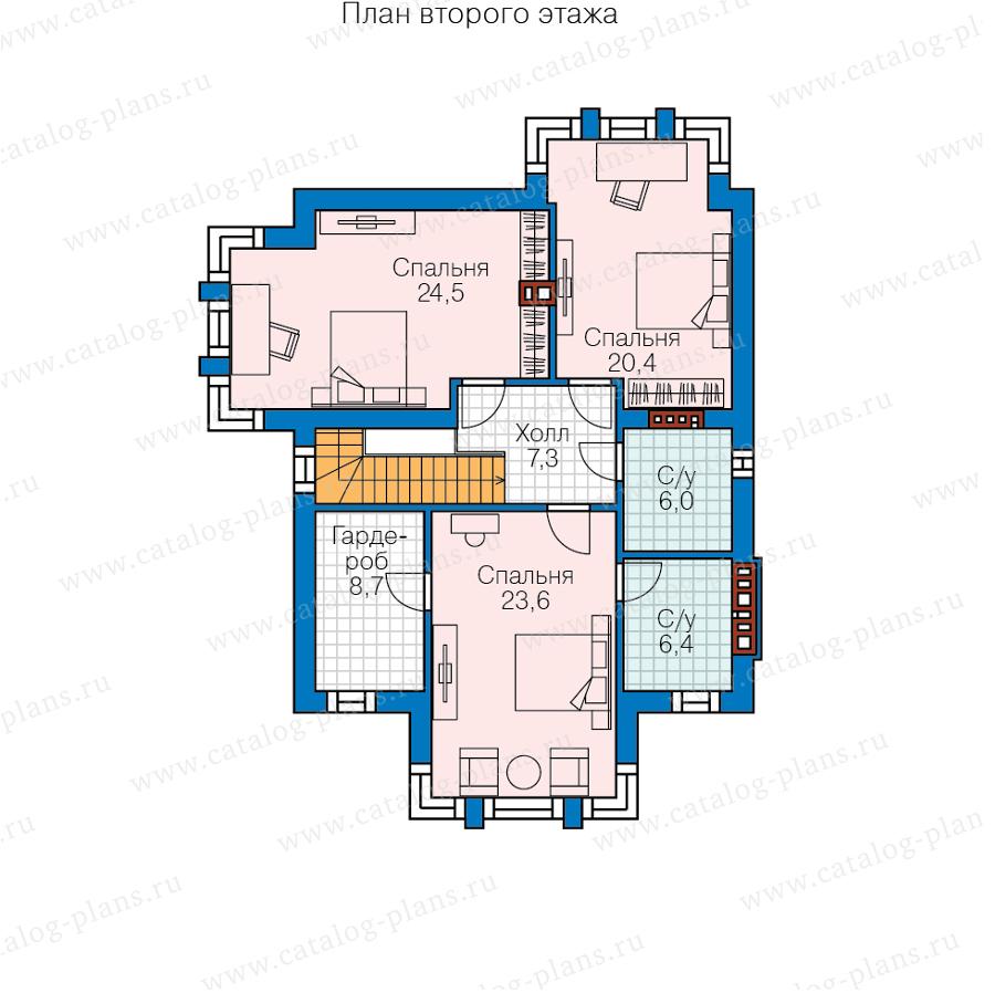 2этаж. План проекта №58-87