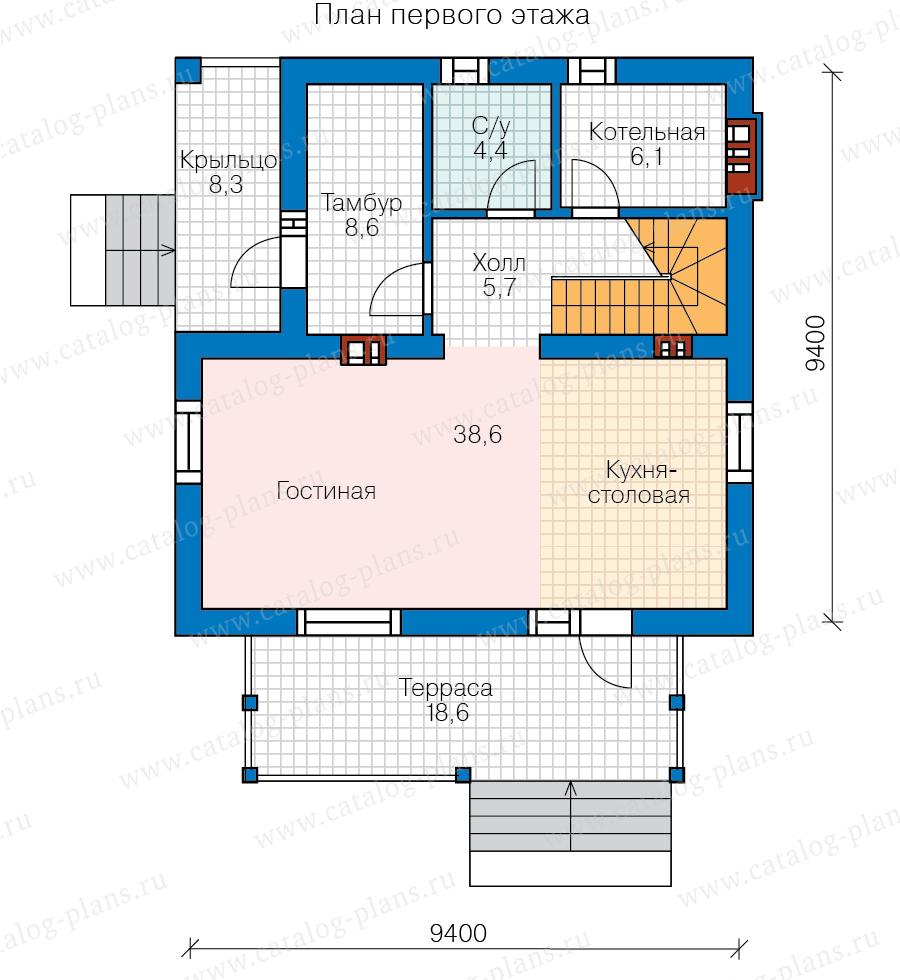 1этаж. План проекта №58-94