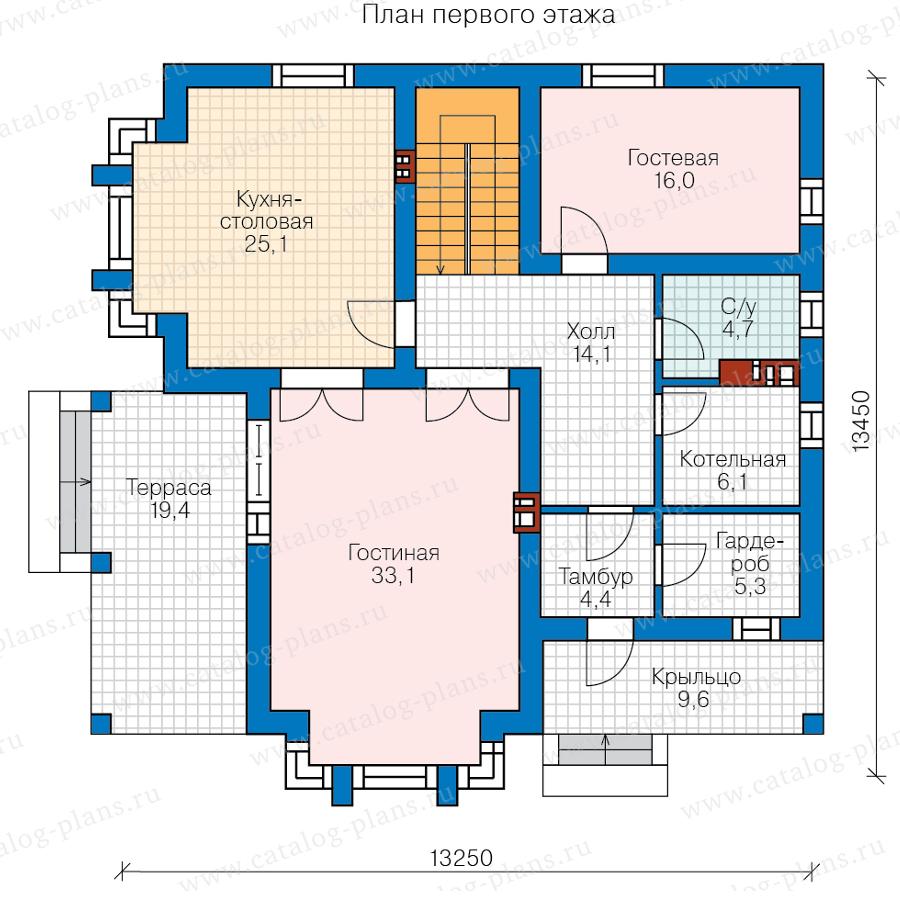 1этаж. План проекта №58-95