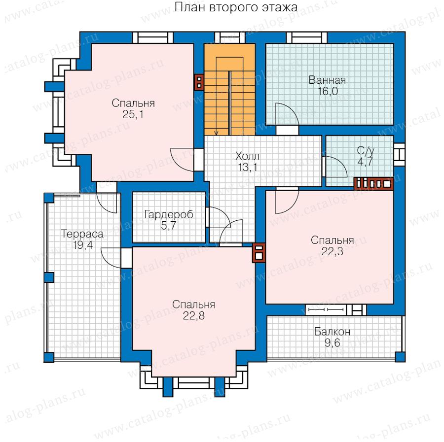 2этаж. План проекта №58-95