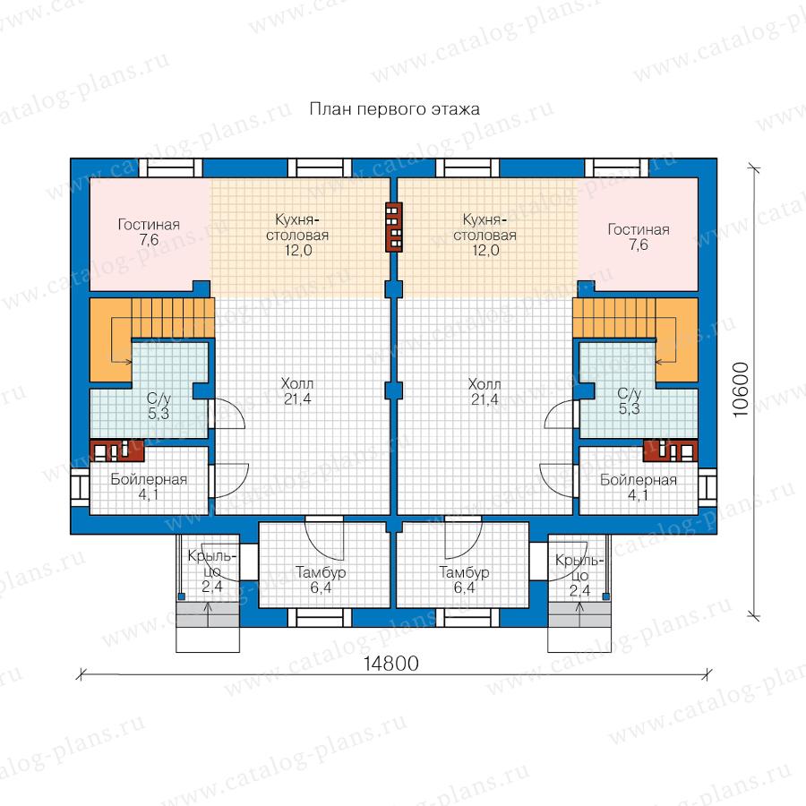 1этаж. План проекта №58-98