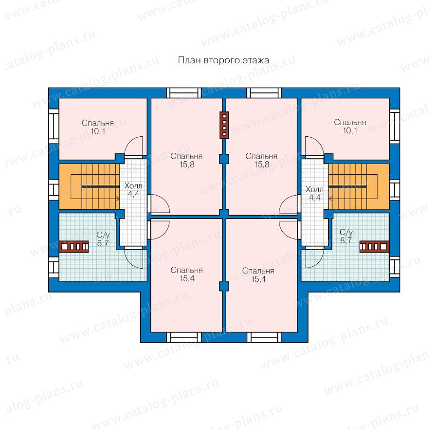 2этаж. План проекта №58-98
