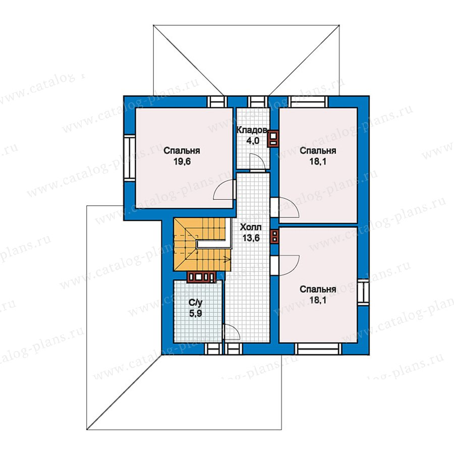 2этаж. План проекта №59-62