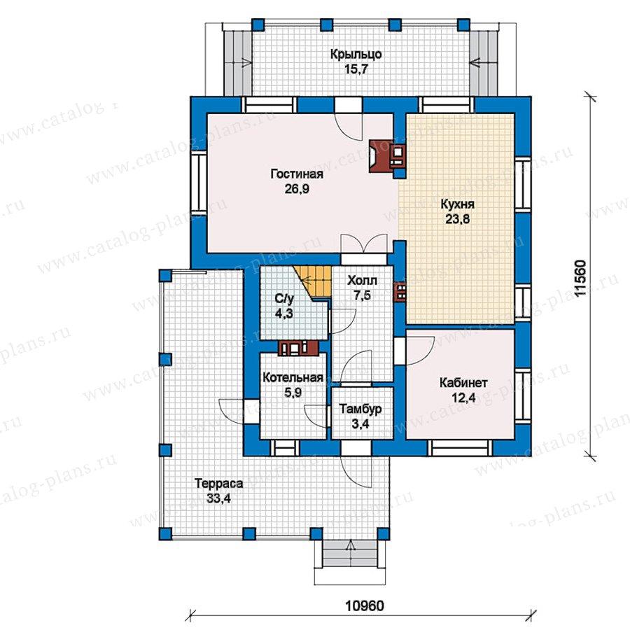 1этаж. План проекта №59-62K