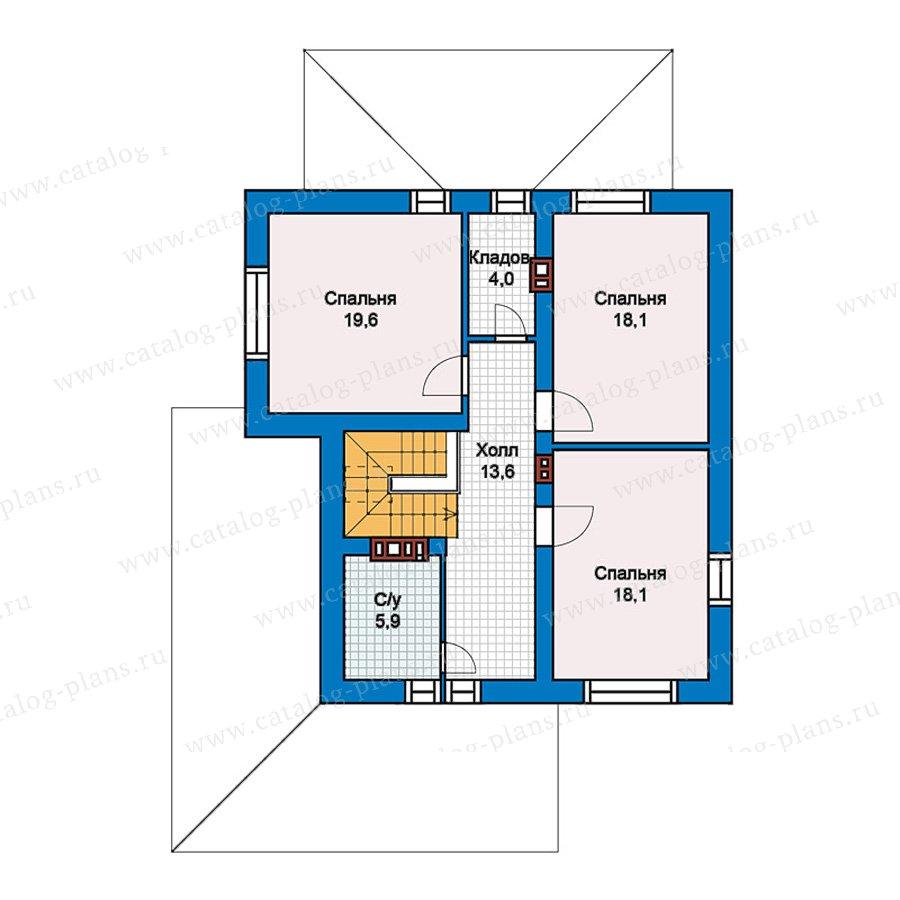 2этаж. План проекта №59-62K
