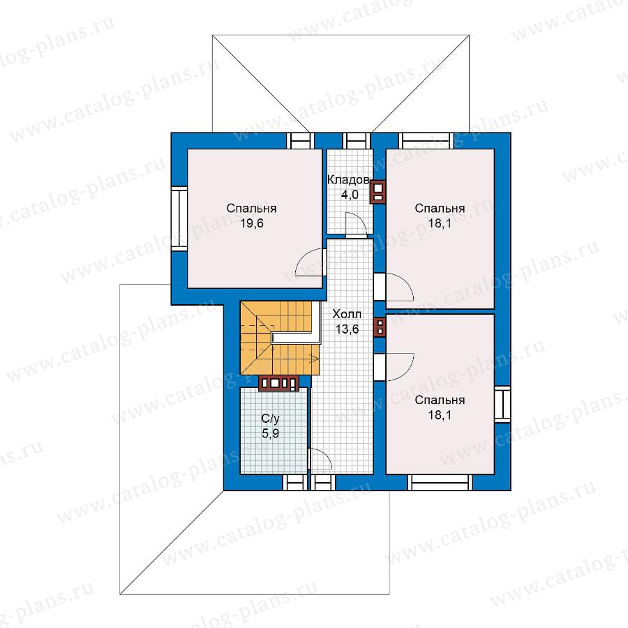 2этаж. План проекта №59-62L