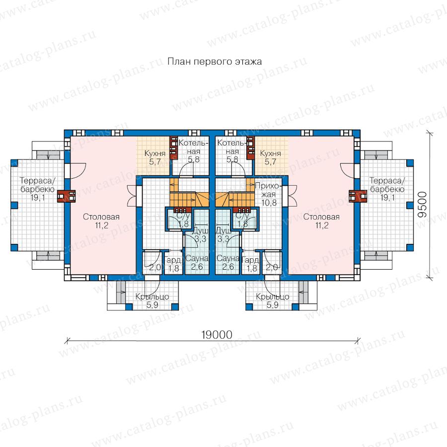 1этаж. План проекта №59-79W