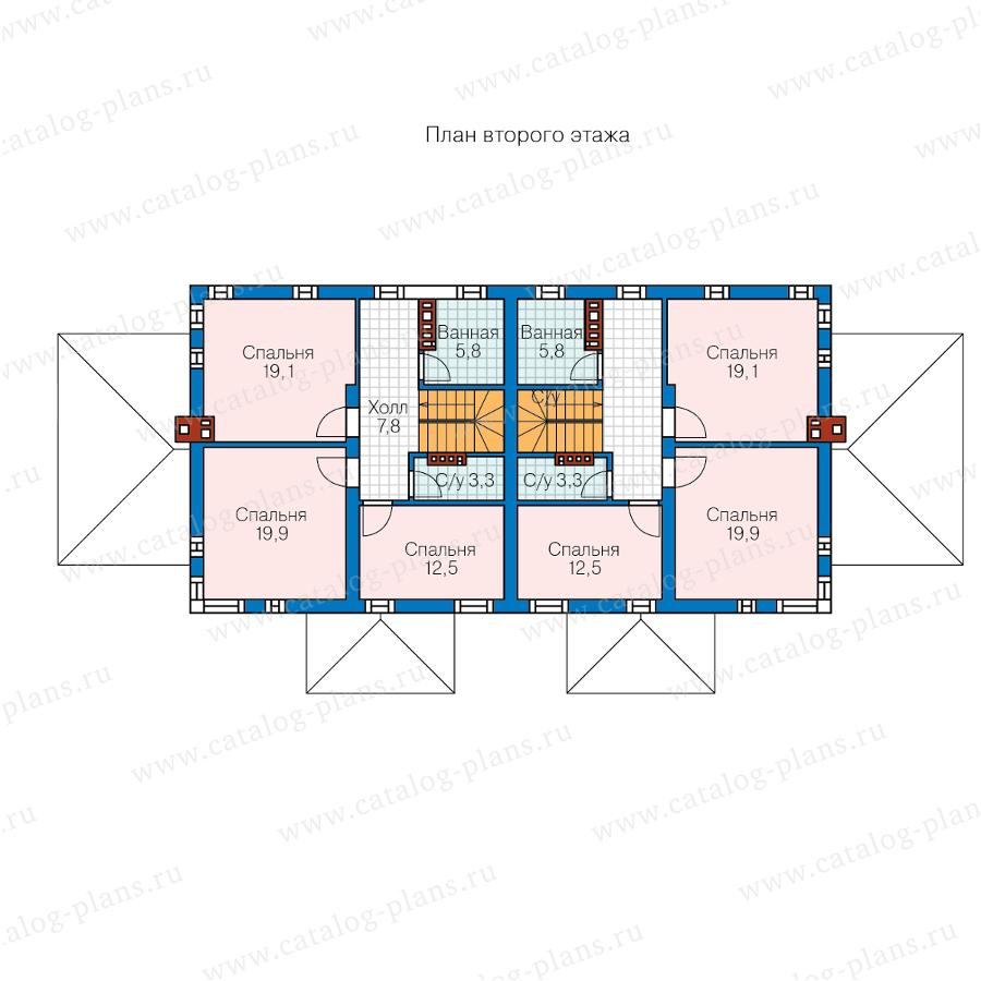 2этаж. План проекта №59-79W