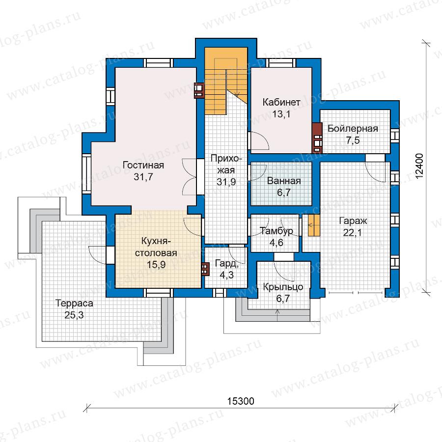 1этаж. План проекта №59-88