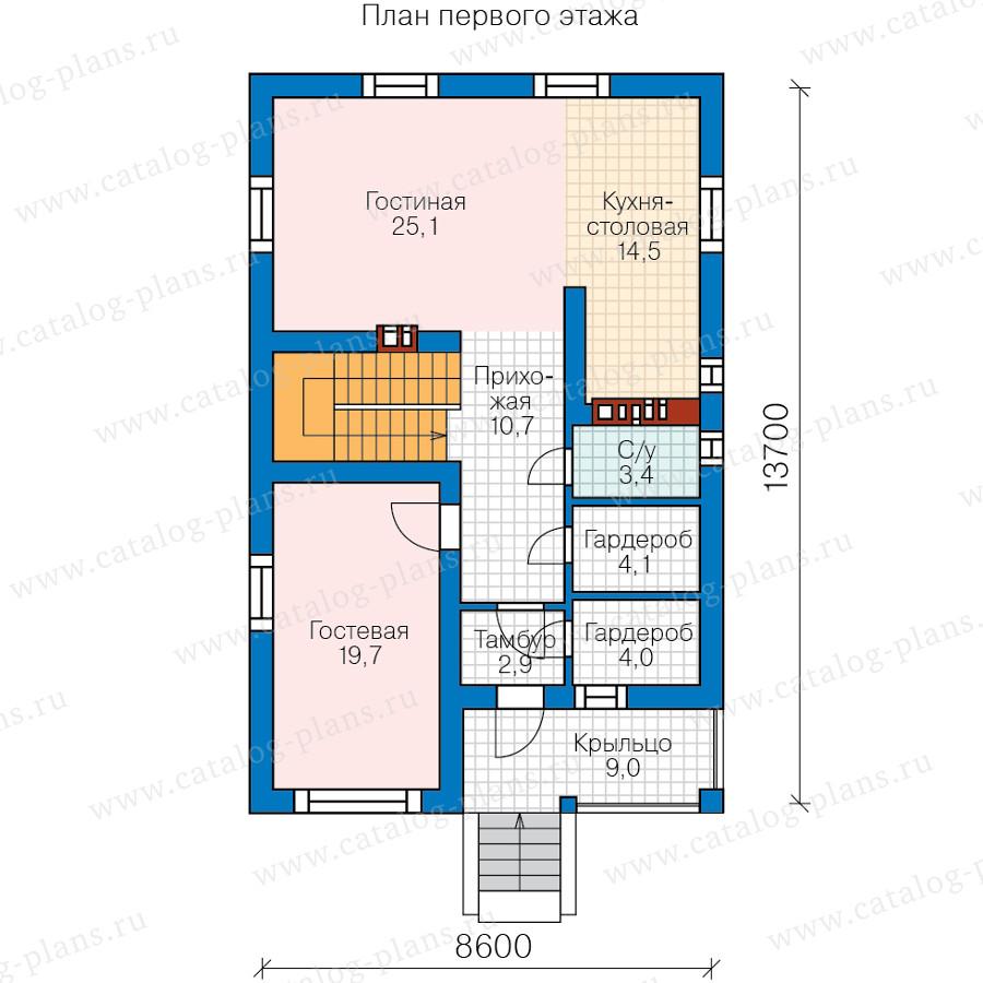 2этаж. План проекта №59-90A