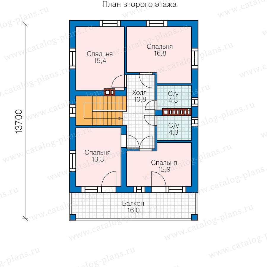 3этаж. План проекта №59-90A