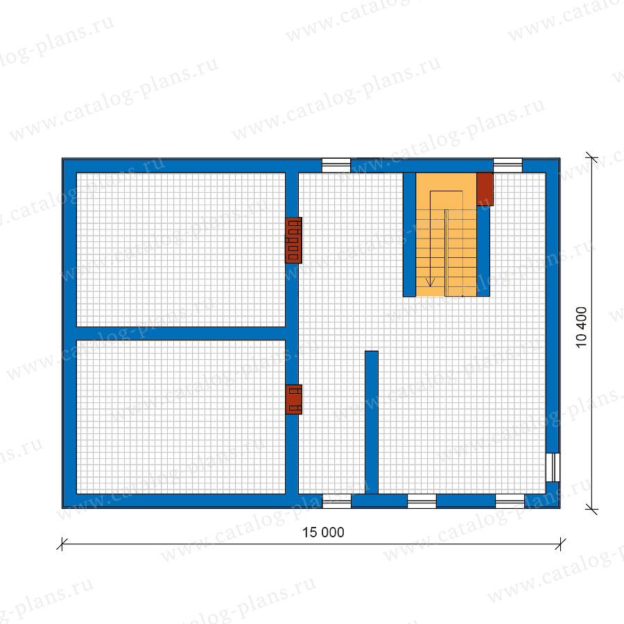 1этаж. План проекта №59-91