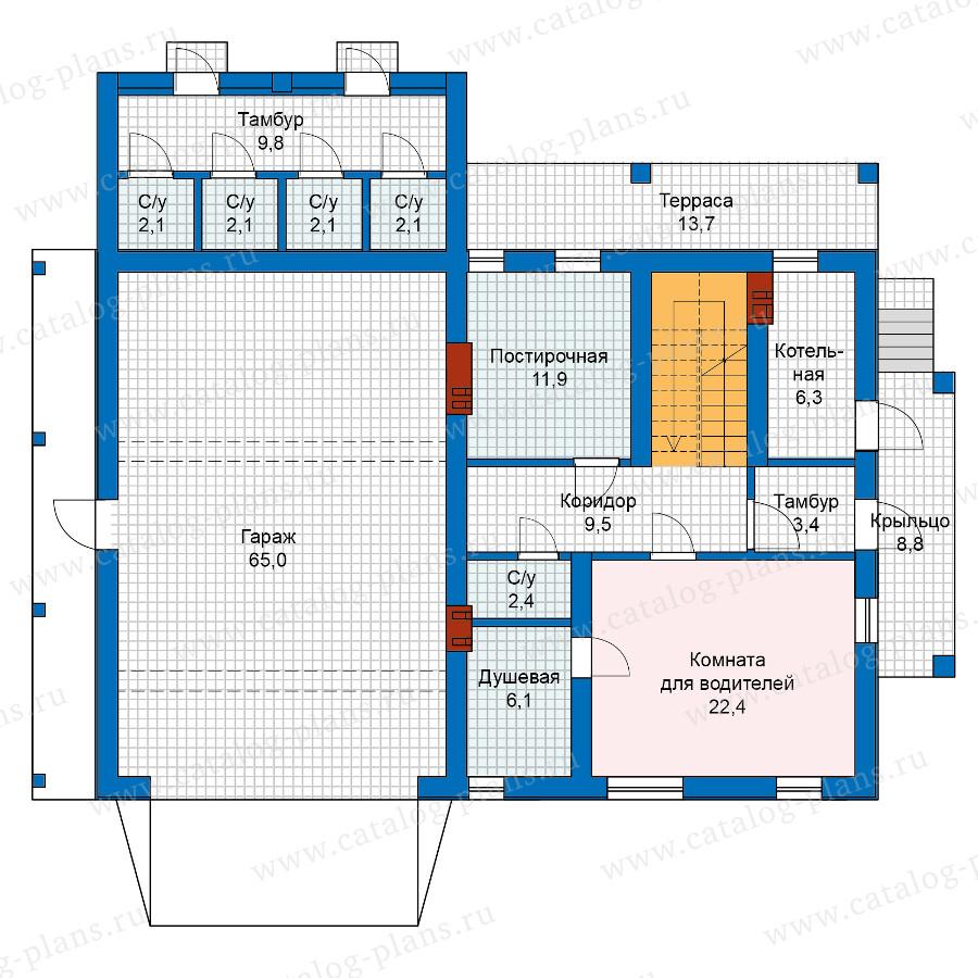 2этаж. План проекта №59-91