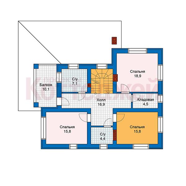 2этаж. План проекта №59-93