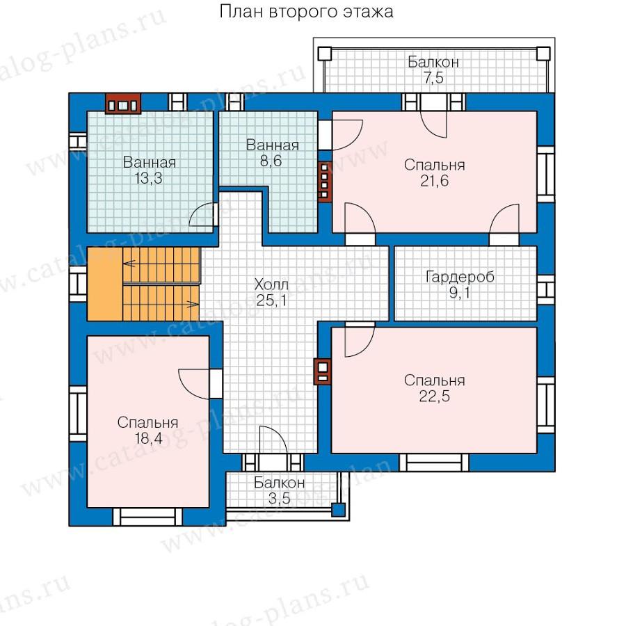 2этаж. План проекта №59-95B