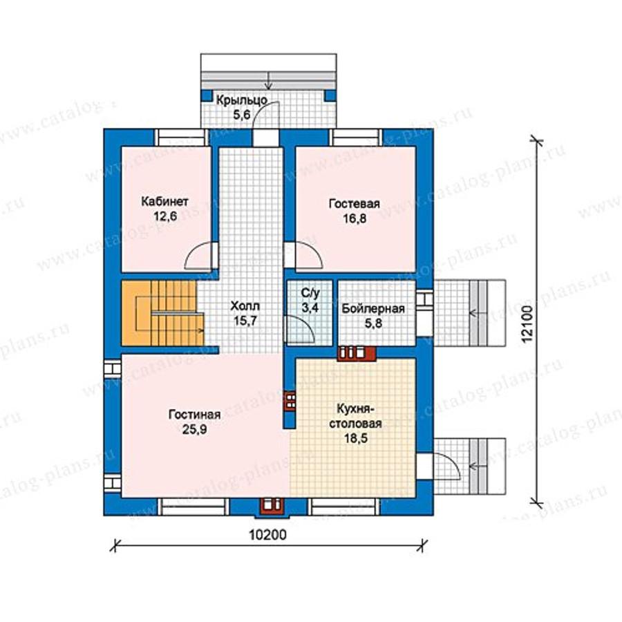 1этаж. План проекта №59-98A