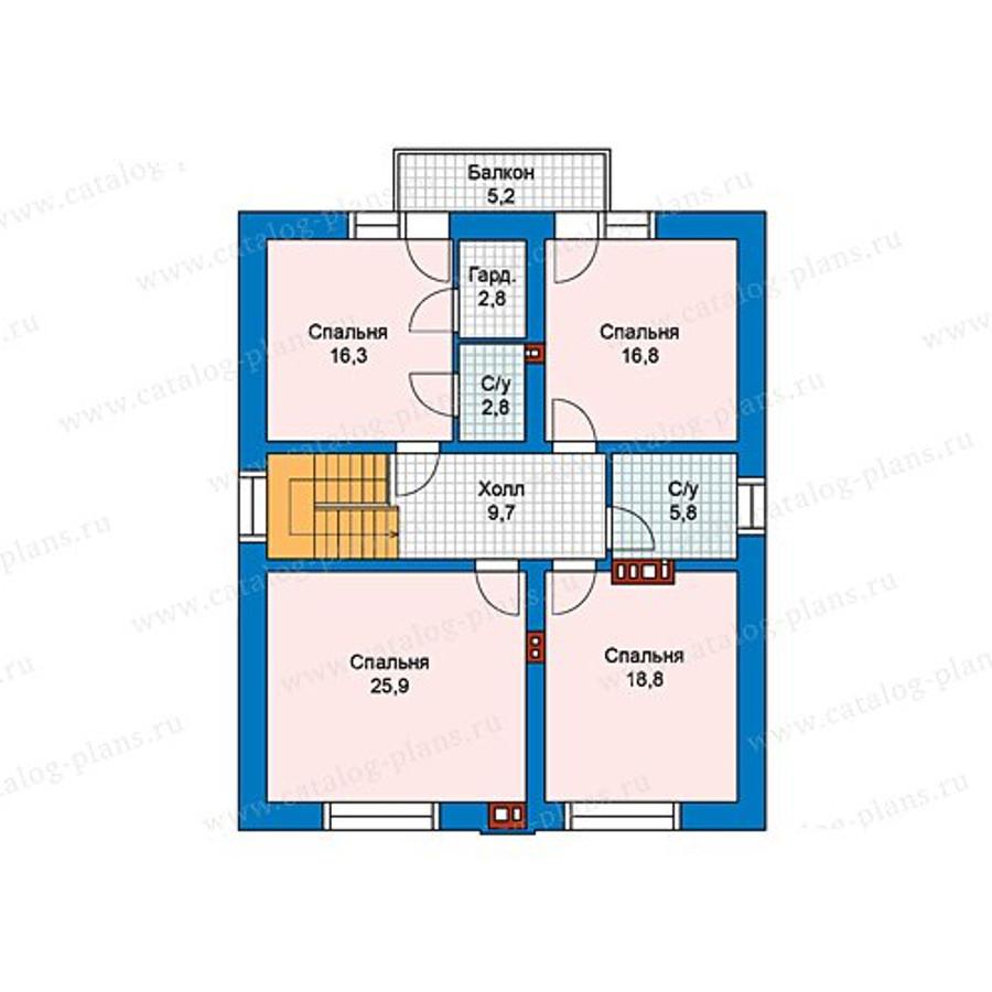 2этаж. План проекта №59-98A