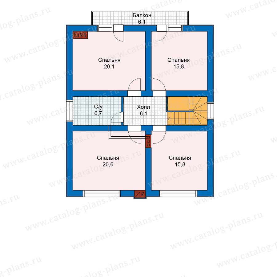 2этаж. План проекта №59-98K