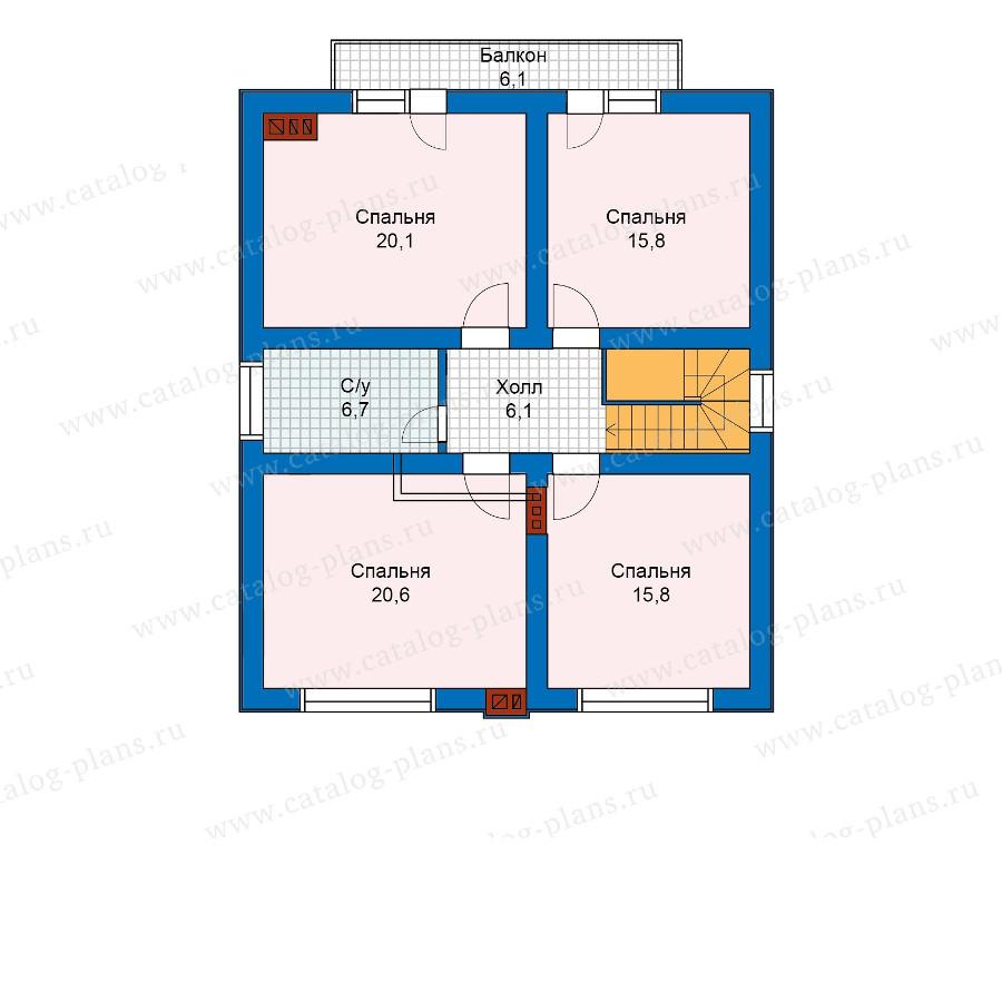 2этаж. План проекта №59-98KL