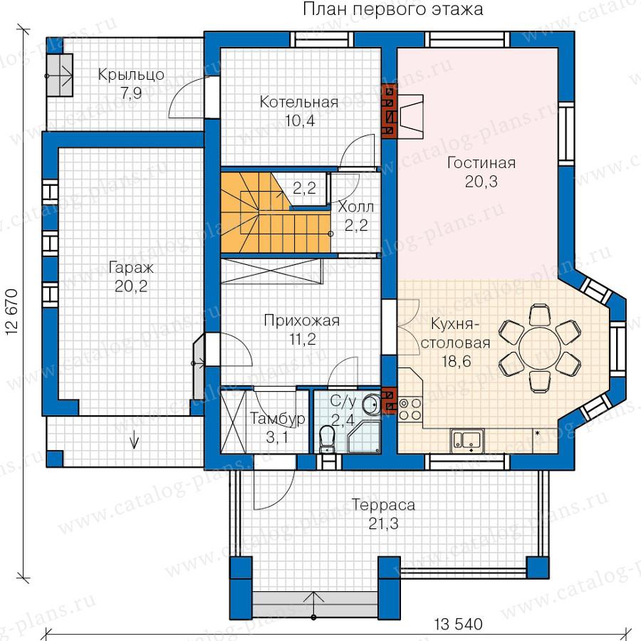 1этаж. План проекта №60-12