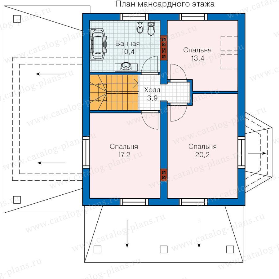 2этаж. План проекта №60-12