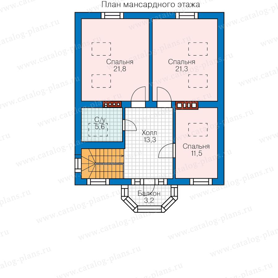 2этаж. План проекта №62-02